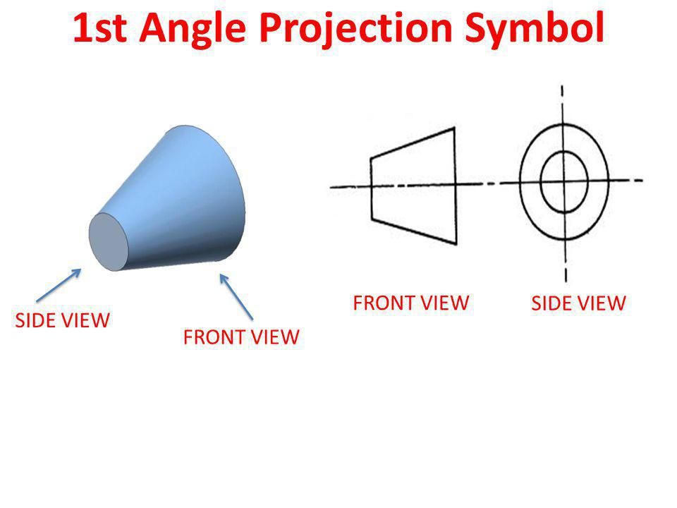 1st Angle Projection Symbol
