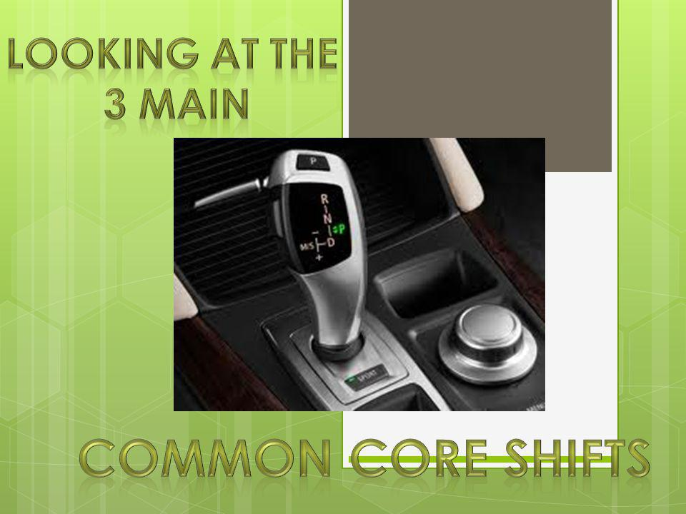 Looking at the 3 Main Common Core Shifts