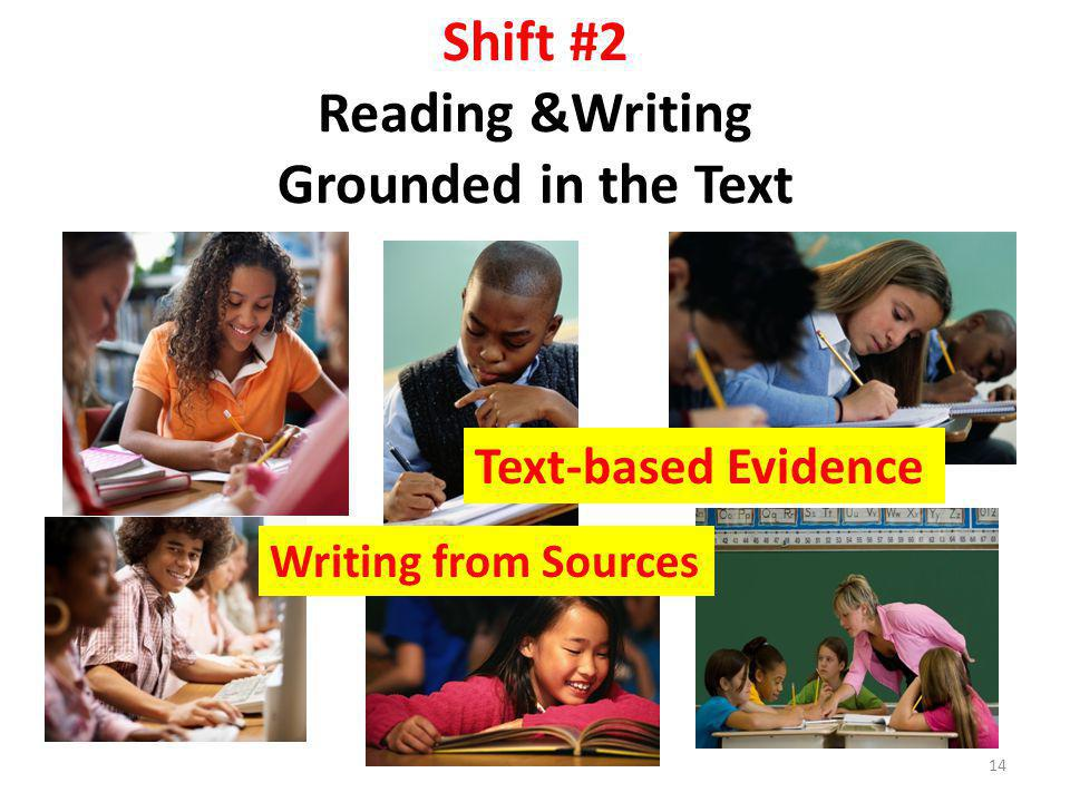 Shift #2 Reading &Writing Grounded in the Text