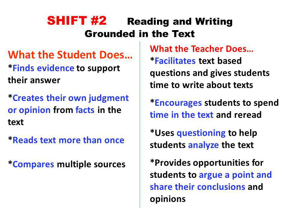 SHIFT #2 Reading and Writing