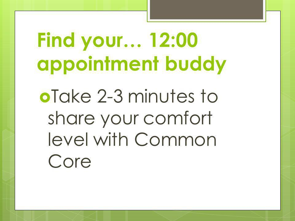 Find your… 12:00 appointment buddy
