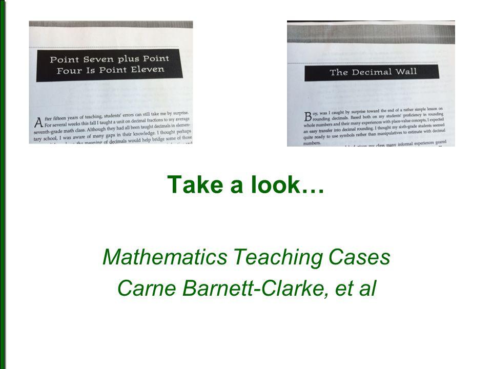 Mathematics Teaching Cases Carne Barnett-Clarke, et al