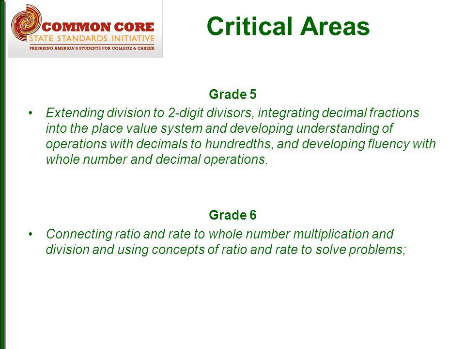 Critical Areas Grade 5.