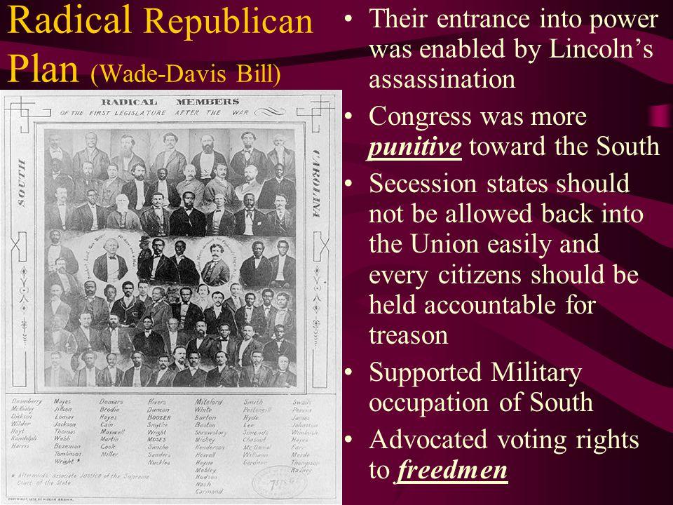 Radical Republican Plan (Wade-Davis Bill)