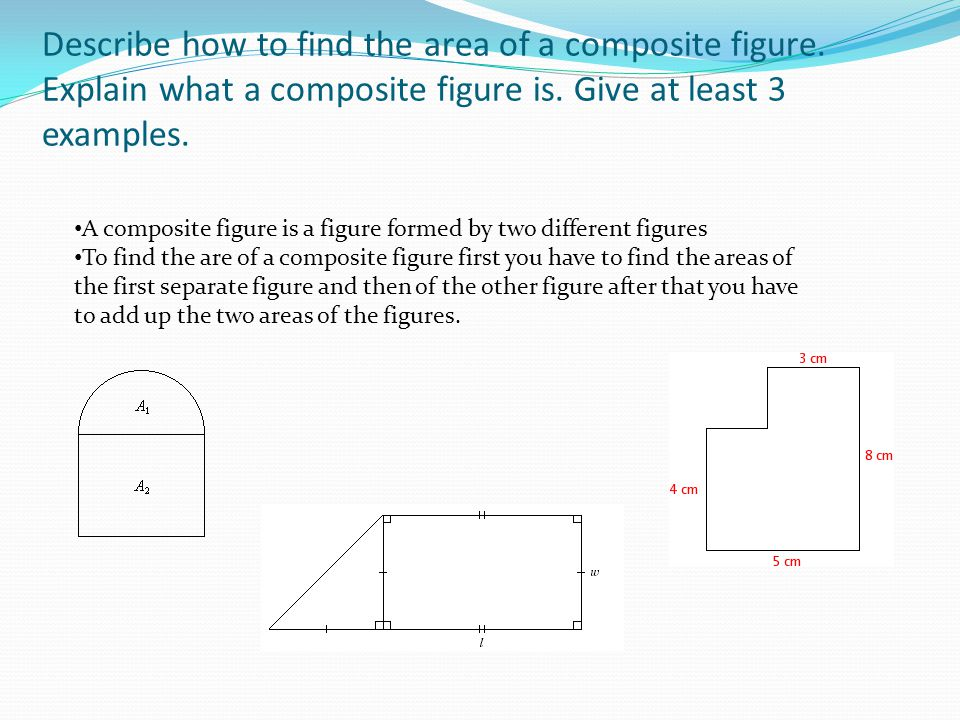 Describe how to find the area of a composite figure