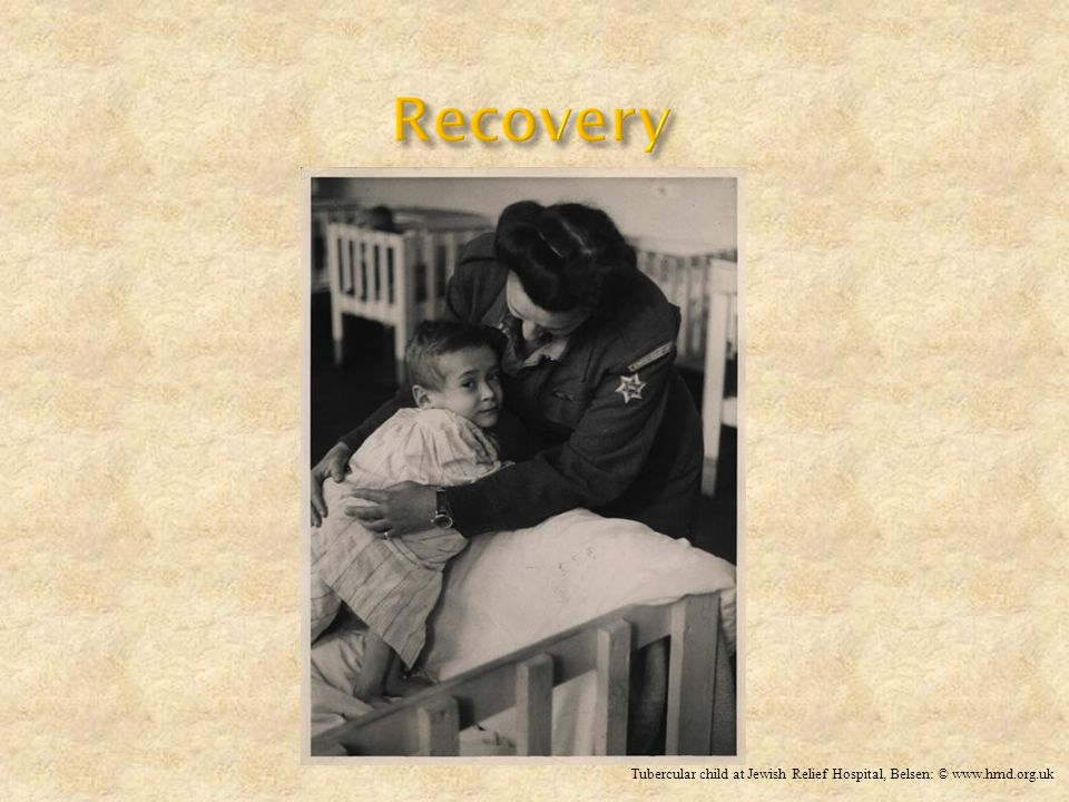 Recovery Tubercular child at Jewish Relief Hospital, Belsen: © www.hmd.org.uk
