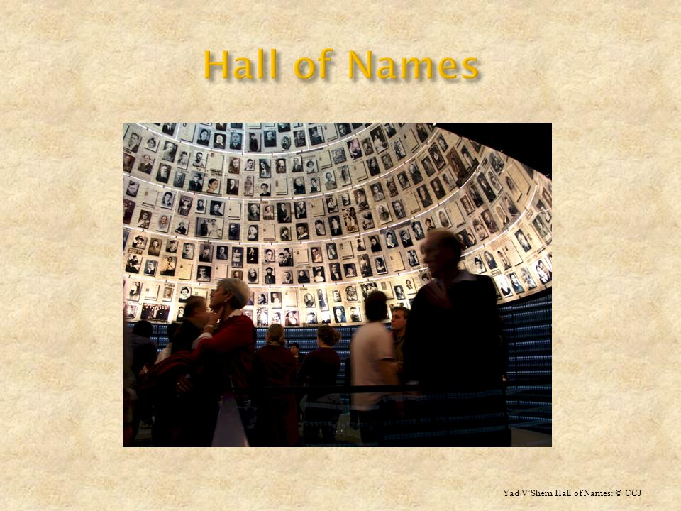 Hall of Names Yad V'Shem Hall of Names: © CCJ