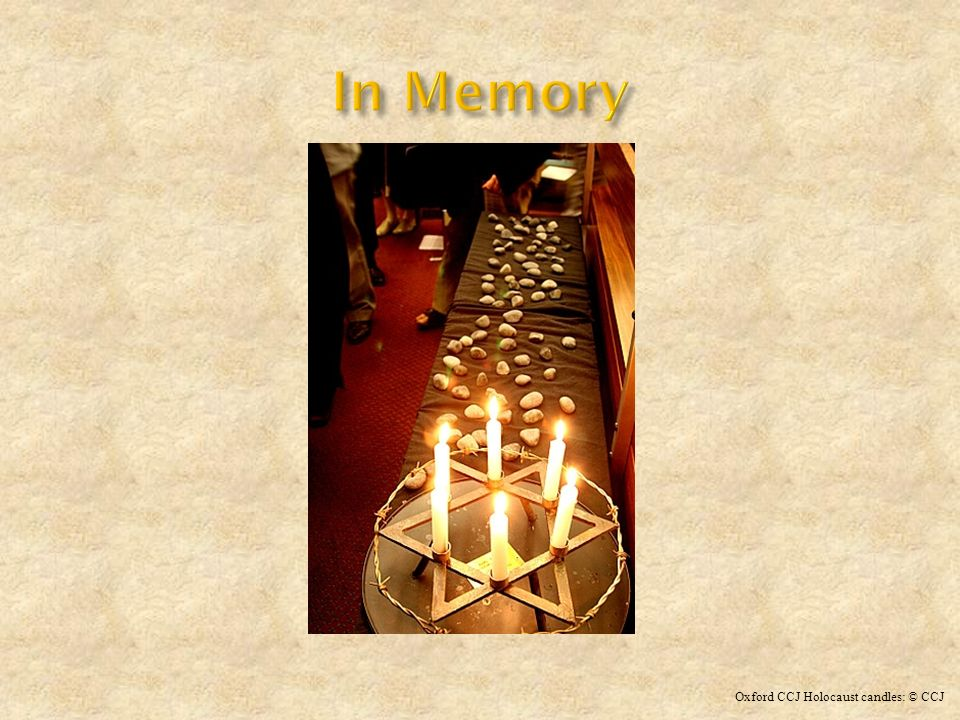 In Memory Oxford CCJ Holocaust candles: © CCJ