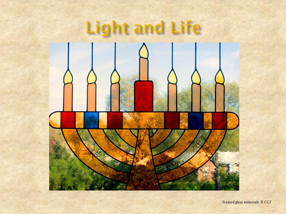 Light and Life Stained glass menorah: © CCJ
