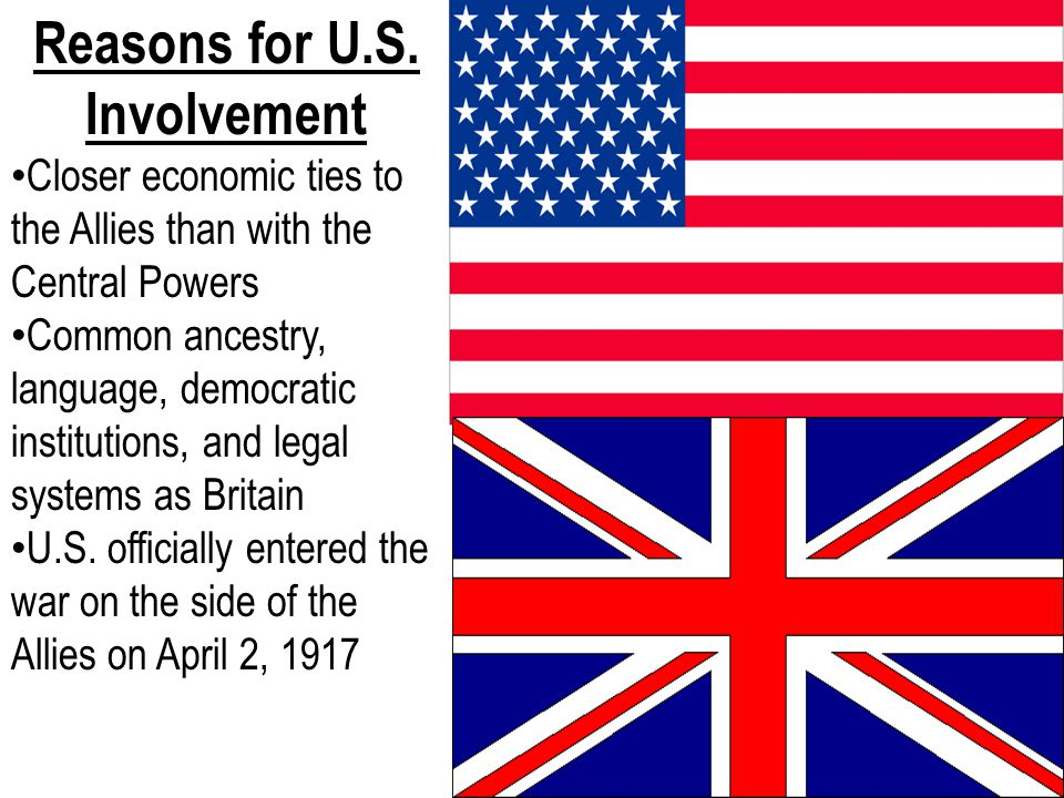 Reasons for U.S. Involvement