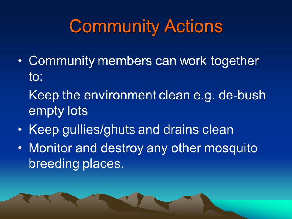 Community Actions Community members can work together to: