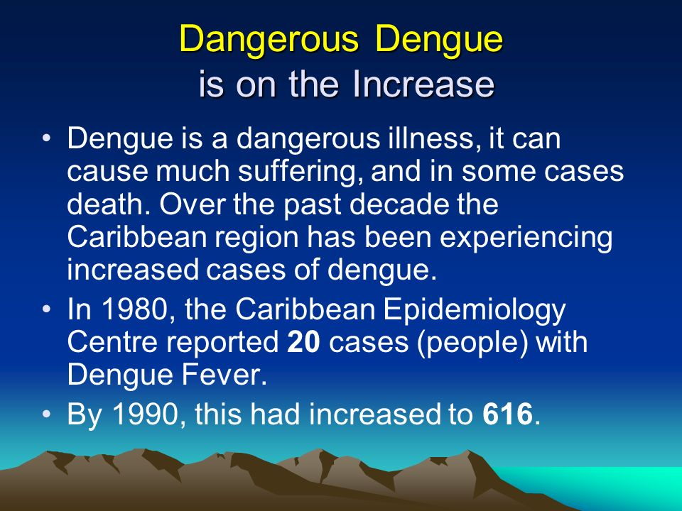 Dangerous Dengue is on the Increase