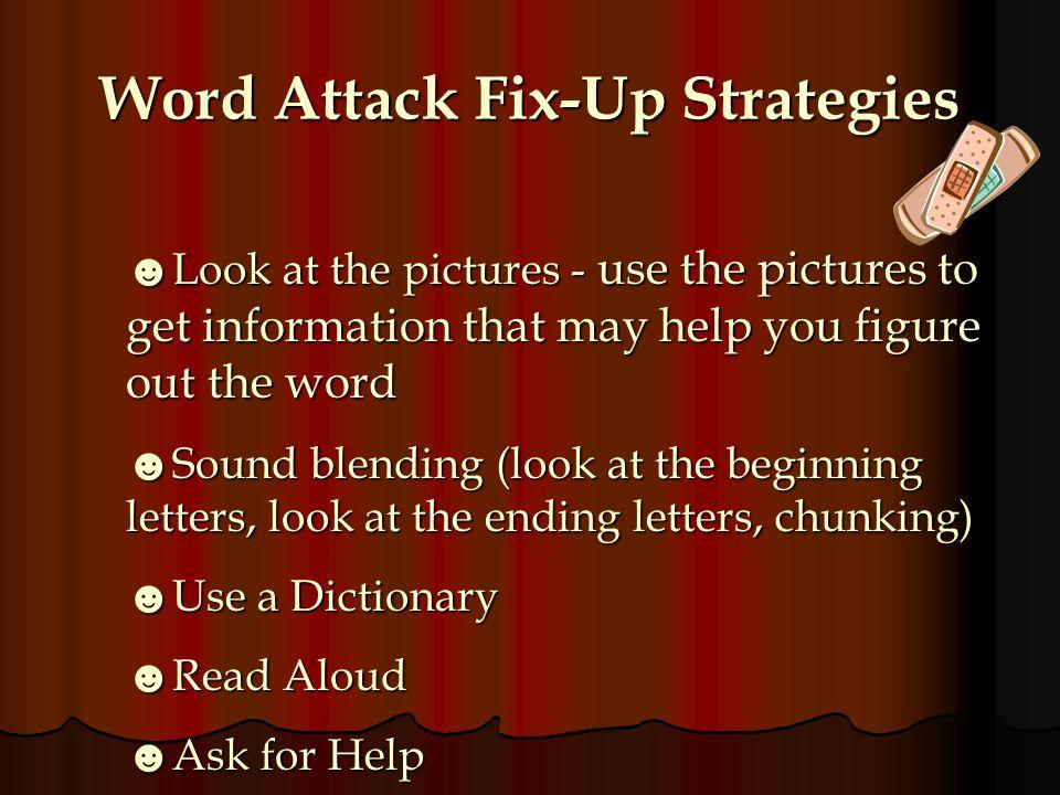 Word Attack Fix-Up Strategies