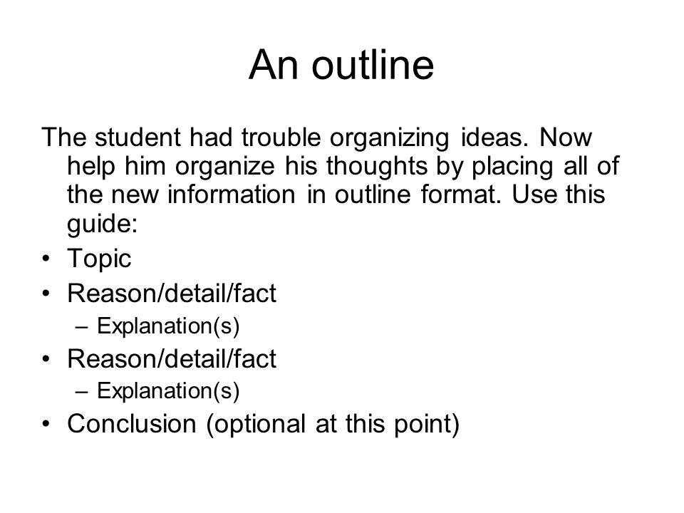An outline