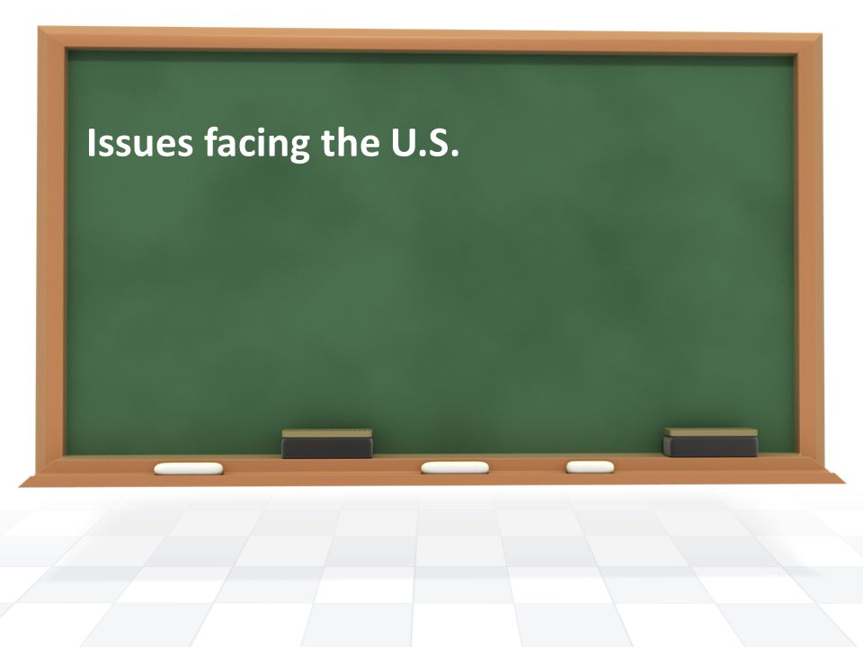 Issues facing the U.S.