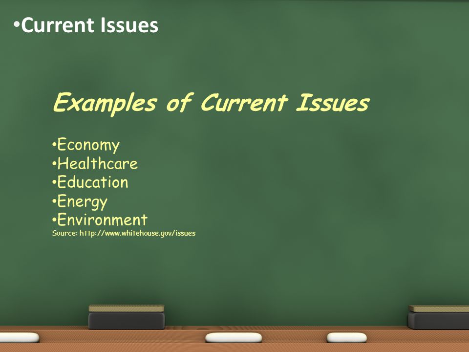Examples of Current Issues