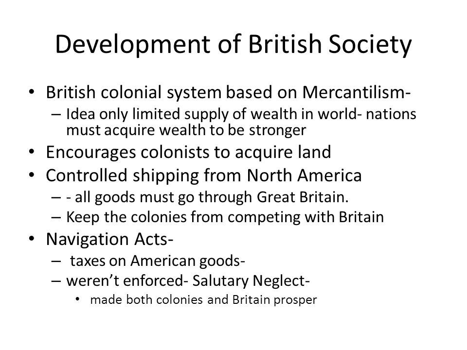 Development of British Society