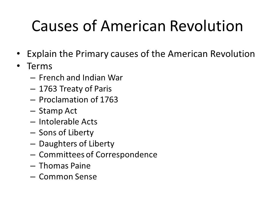 American Revolutions Changes DBQ Essay