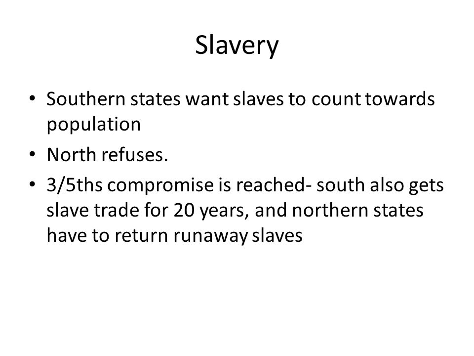 Slavery Southern states want slaves to count towards population