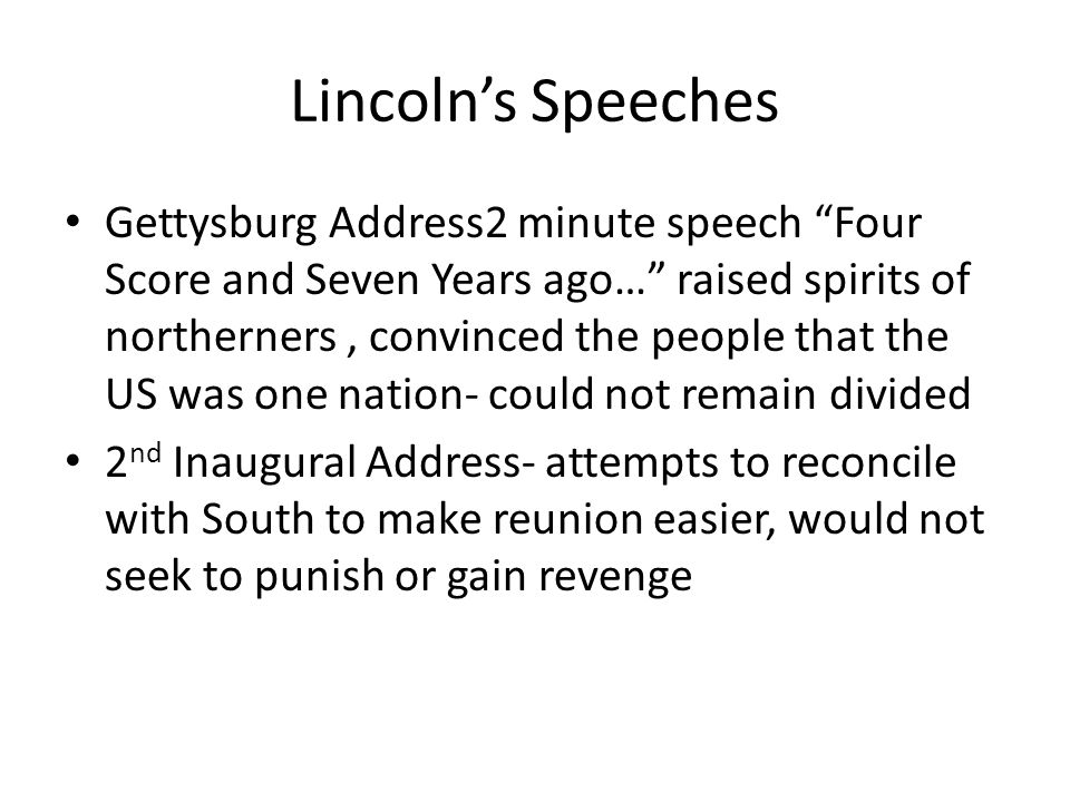 Lincoln's Speeches
