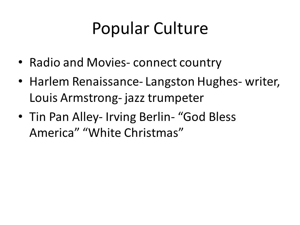 Popular Culture Radio and Movies- connect country