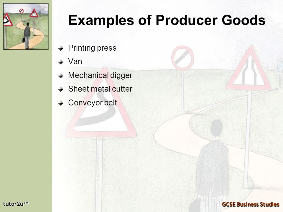 Examples of Producer Goods