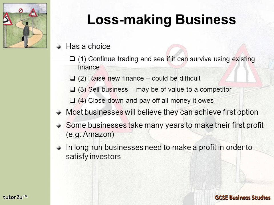 Loss-making Business Has a choice