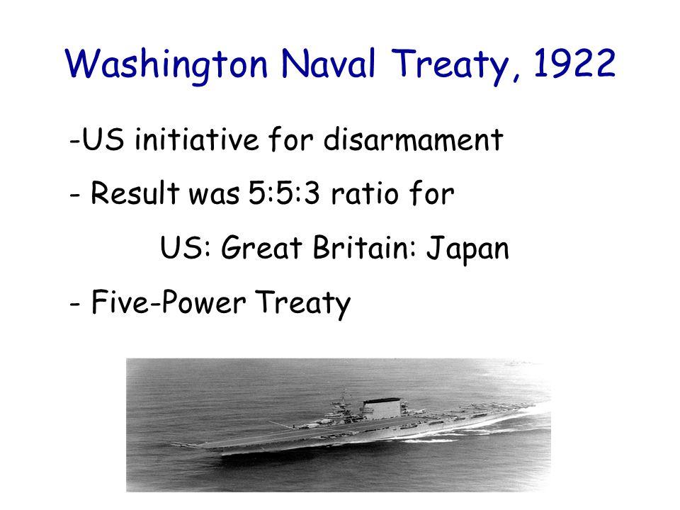 Washington Naval Treaty, 1922