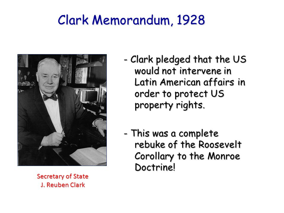 Secretary of State J. Reuben Clark