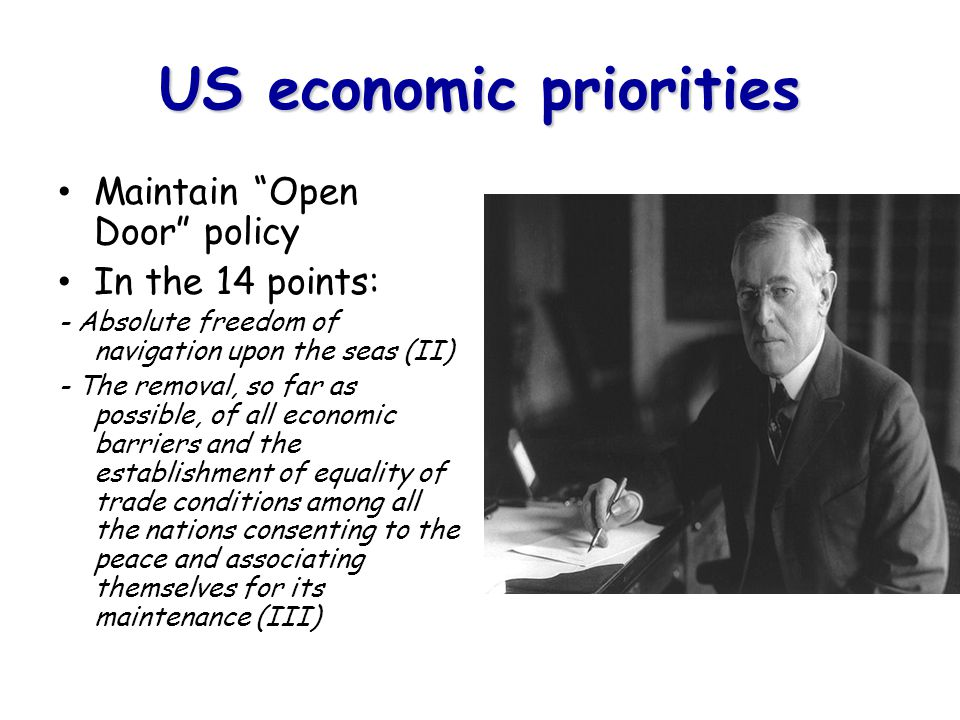 US economic priorities