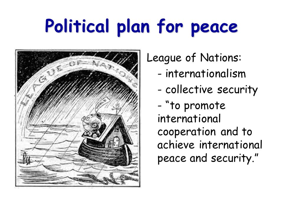 Political plan for peace