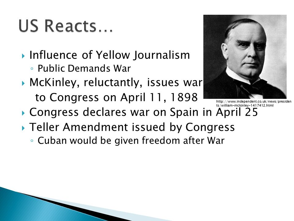 US Reacts… Influence of Yellow Journalism