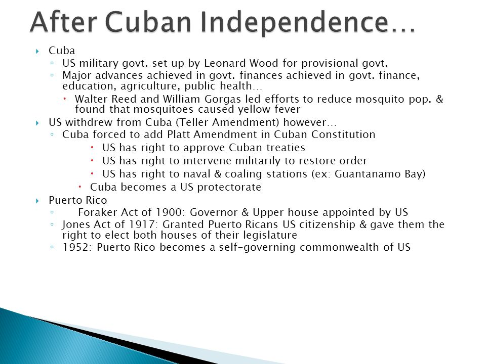 After Cuban Independence…
