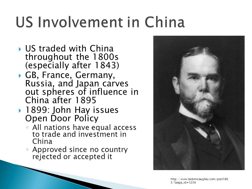 US Involvement in China