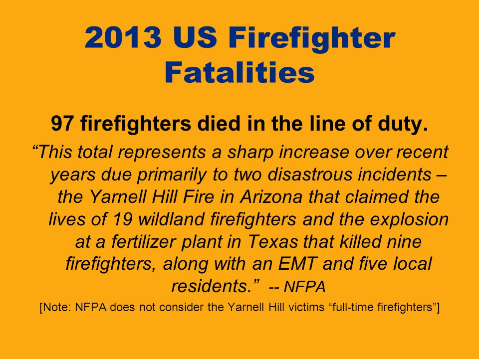 2013 US Firefighter Fatalities