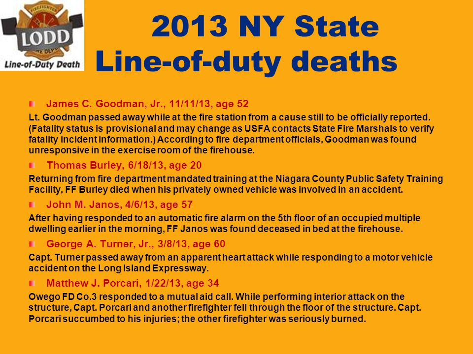 2013 NY State Line-of-duty deaths