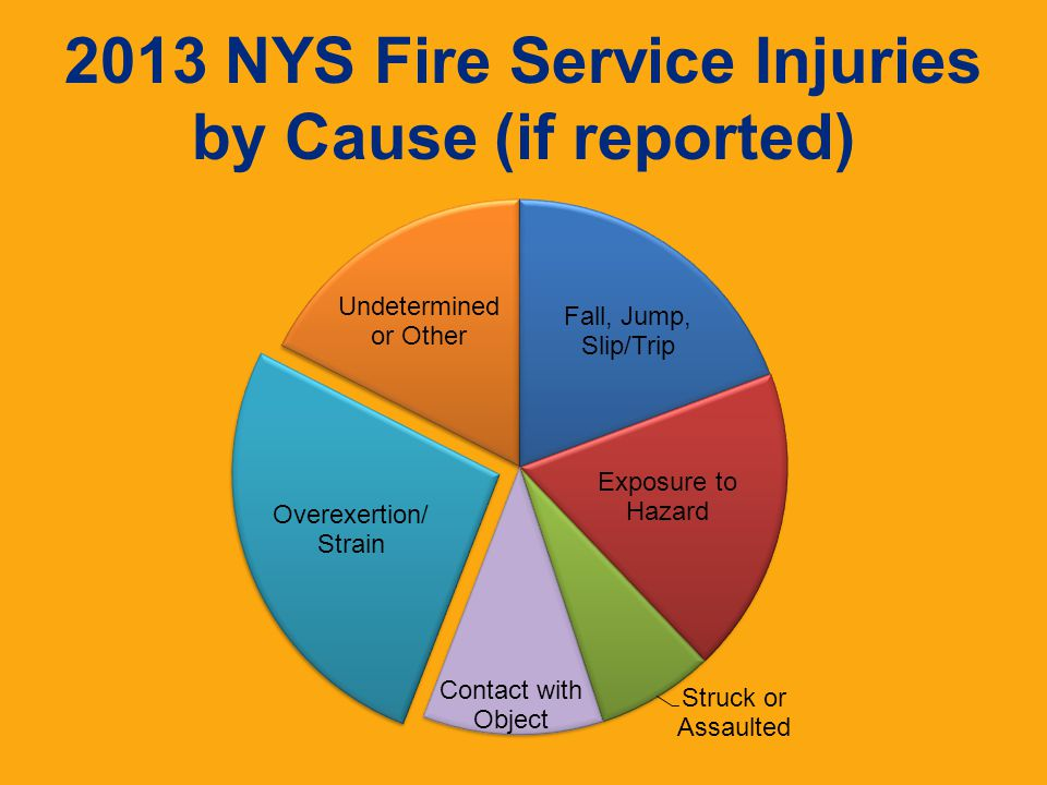 2013 NYS Fire Service Injuries by Cause (if reported)