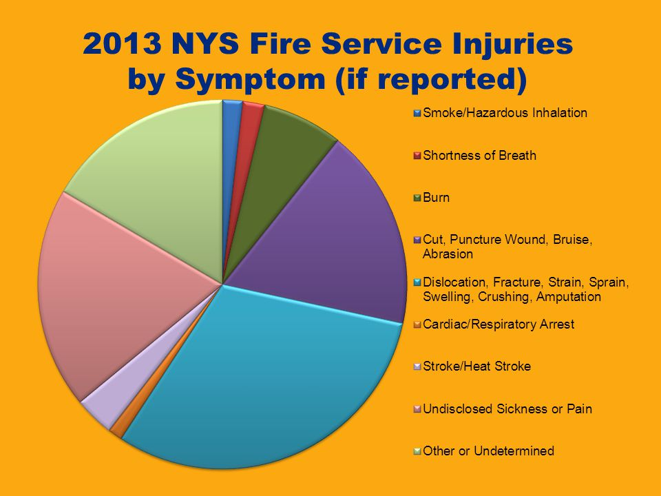 2013 NYS Fire Service Injuries by Symptom (if reported)