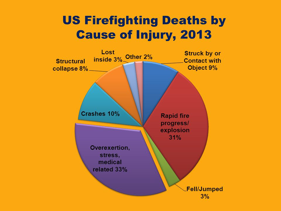 US Firefighting Deaths by Cause of Injury, 2013