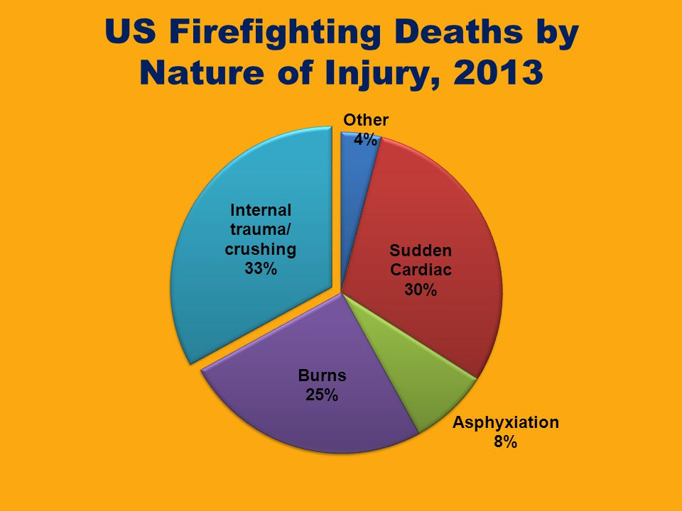 US Firefighting Deaths by Nature of Injury, 2013