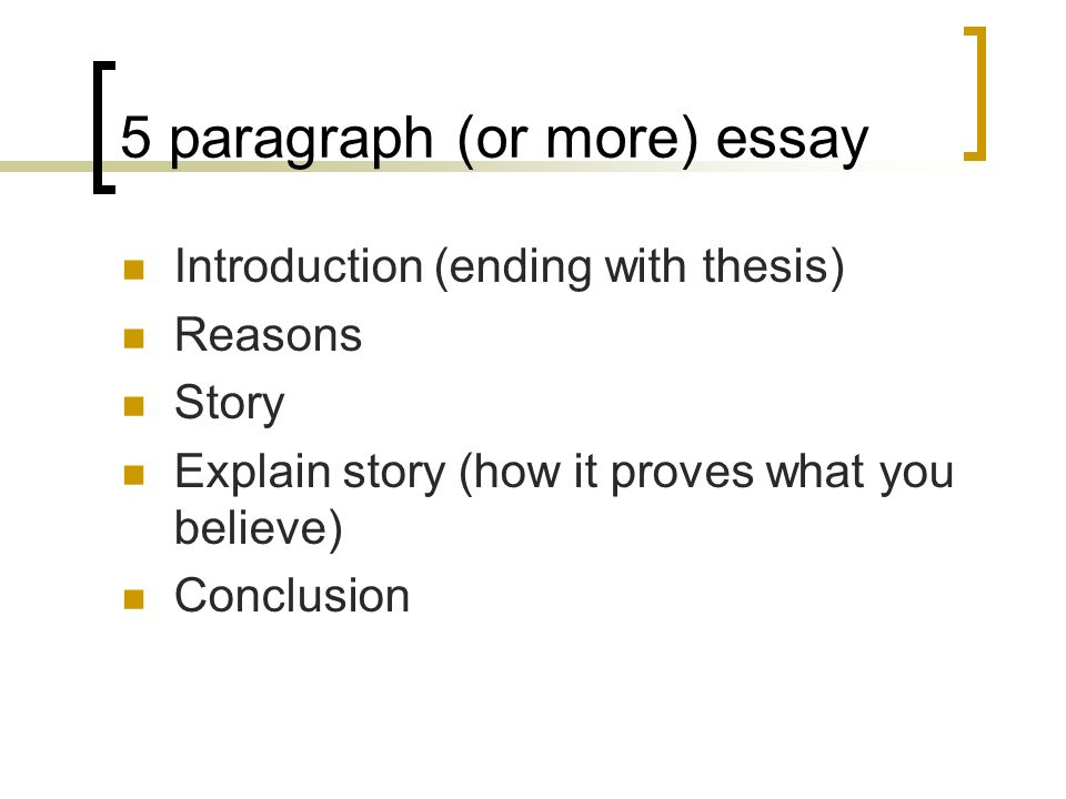 5 paragraph (or more) essay