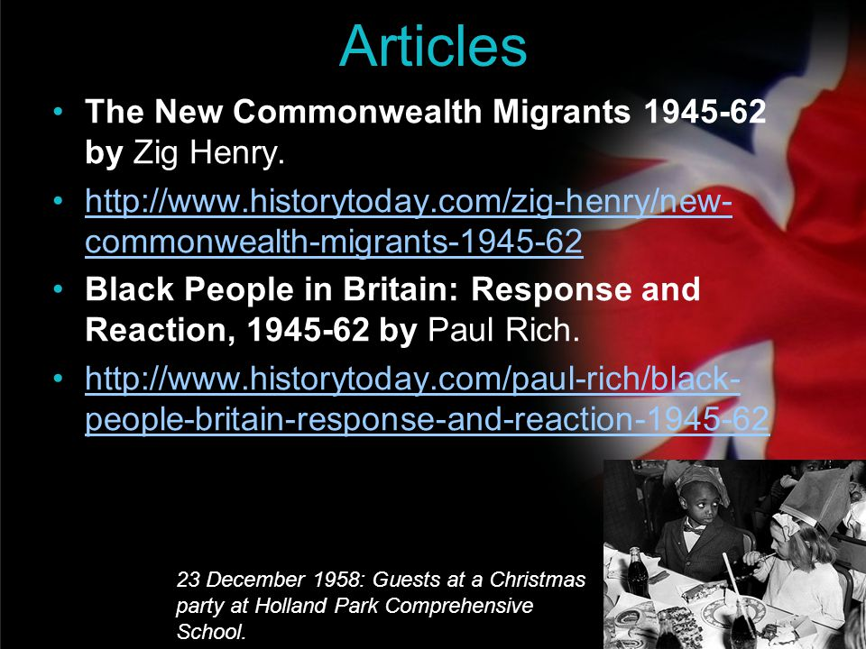 Articles The New Commonwealth Migrants 1945-62 by Zig Henry.