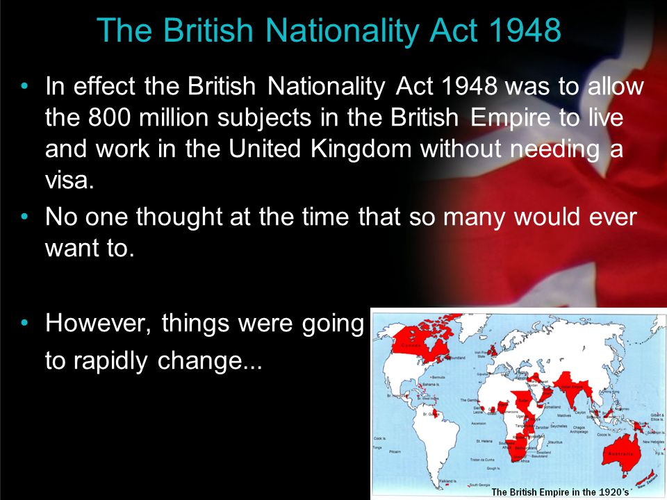 The British Nationality Act 1948