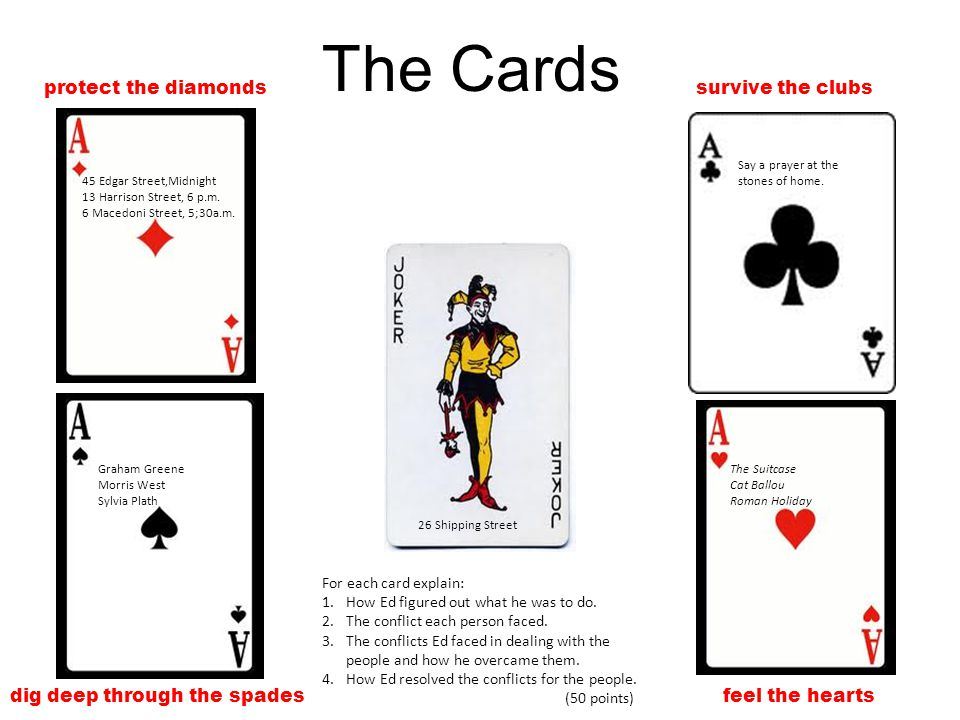 The Cards protect the diamonds survive the clubs
