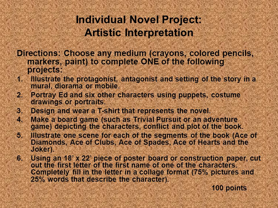 Individual Novel Project: Artistic Interpretation