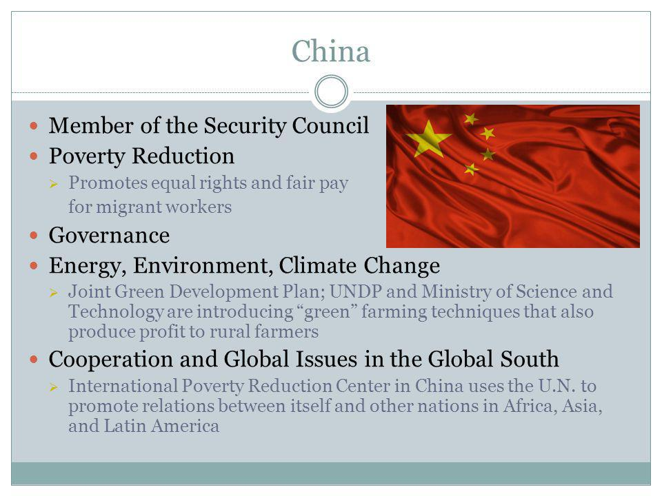 China Member of the Security Council Poverty Reduction Governance