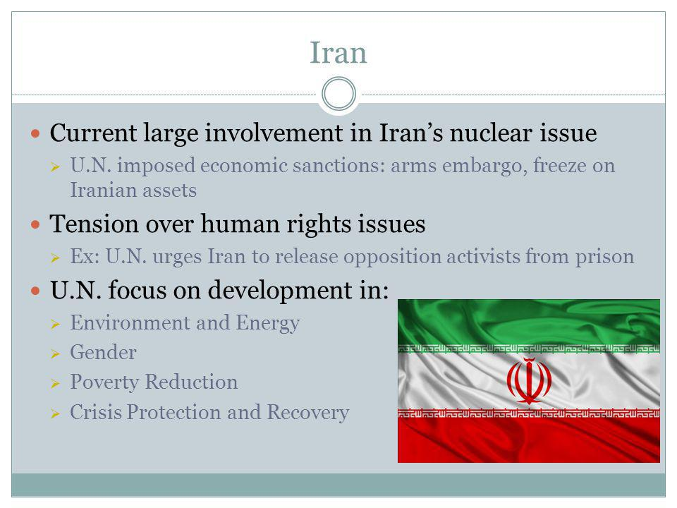 Iran Current large involvement in Iran's nuclear issue