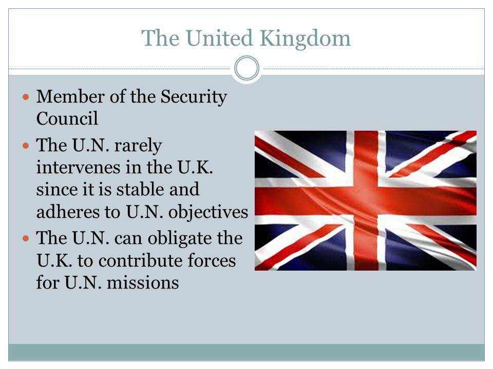 The United Kingdom Member of the Security Council