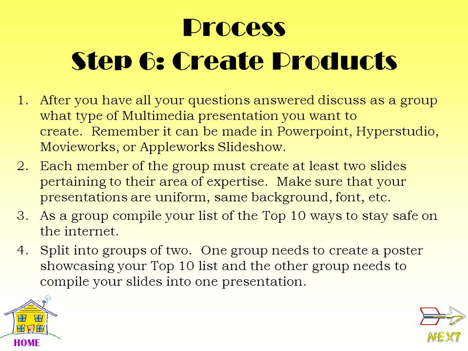 Process Step 6: Create Products