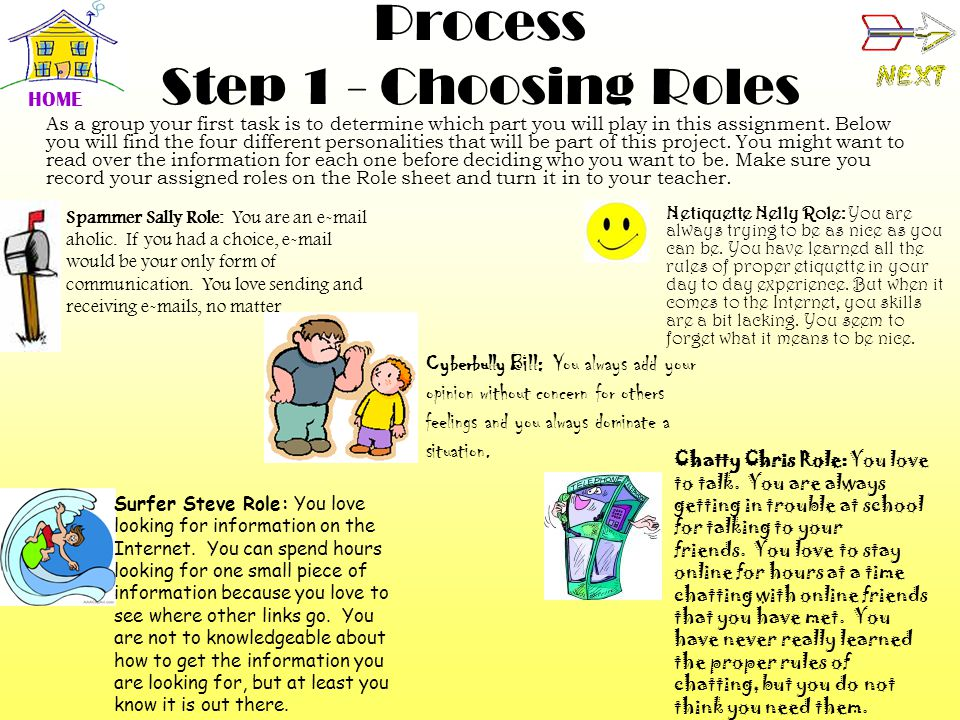 Process Step 1 - Choosing Roles